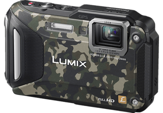 PANASONIC Lumix DMC-FT5 Digitalkamera, 16.1 Megapixel, 4.6x opt. Zoom, High Sensitivity MOS Sensor, Near Field Communication, WLAN, 28-128 mm Brennweite, Autofokus, Camouflage