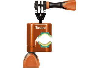 "ROLLEI Cero Motorbike Mount Actioncams mit 1/4"" Gewinde , Orange"