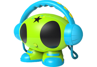 BIGBEN AU342499 MP3 Karaoke Roboter MP3 Player (1 GB, Blau/Grün/Gelb)