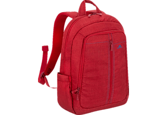 "RIVACASE 7560 Laptop Canvas Backpack 15.6"" Red"