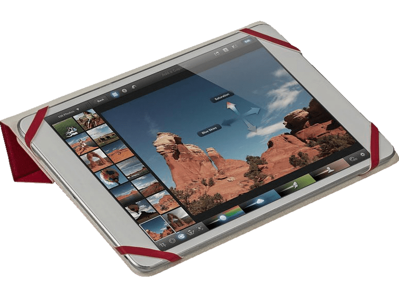 """RIVACASE 3122 Double-sided tablet cover 7-8"""""""" Red/ White εικόνα   ήχος   offline φορητός ήχος ακουστικά computing   tablets   offline αξε"""