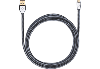 OEHLBACH Mobile Entertainment USB-Kabel, USB Micro-B auf USB-A XXL i-Connect UM-B/U 0,5 m, Kabel, 500 mm, Grau