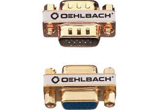 OEHLBACH 9069 VGA Adapter W/W, Kabel, 30 mm, Gold