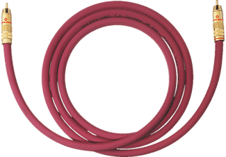 OEHLBACH Subwoofer Cinch-Kabel NF 214 Subwooferkabel 3 m, Kabel, 3000 mm, Bordeaux