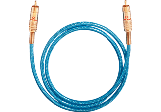 OEHLBACH Digitales Audio-Cinchkabel NF 113 DIGITAL SET, Kabel, 5000 mm, Blau