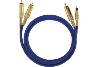 OEHLBACH NF Audio-Cinchkabel NF 1 MASTER SET, Kabel, 10000 mm, Blau