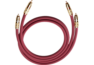 OEHLBACH NF-Audio-Cinchkabel NF 214 MASTER SET 2x 0,7 m, Kabel, 700 mm, Bordeaux