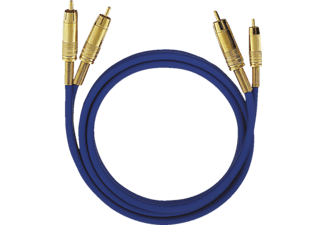 OEHLBACH NF Audio-Cinchkabel NF 1 MASTER SET 0,5 m, Kabel, 500 mm, Weiß