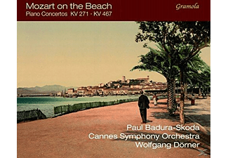 VARIOUS, Paul Badura-skoda, Orchestre Symphonique de Cannes - Mozart On The Beach: Klavierkonzerte 9 & 21 - (CD)