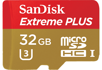 sandisk extreme plus microsdhc uhs i speicherkarte 32 gb. Black Bedroom Furniture Sets. Home Design Ideas