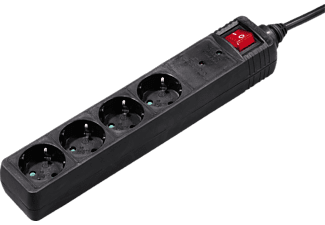 HAMA 121907 4WAY POWER STRIP OVERVOLT.PROT.1.4M BLACK