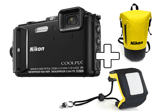 NIKON COOLPIX AW130 + Diving kit Zwart