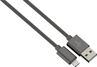 HAMA Color Line Lade-/Sync-Kabel, passend für Apple iPhone, iPad, iPod, Anthrazit