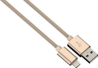 HAMA Color Line Lade-/Sync-Kabel, Apple, iPod/iPhone/iPad, Gold