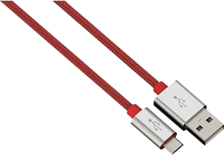 HAMA Color Line, USB-Kabel, 1 m, Rot