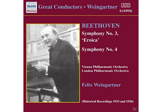 VIENNA PHILH. ORCH. & LONDON PHILH., Felix/wpo/lpo Weingartner - Sinfonien 3+4 - (CD)