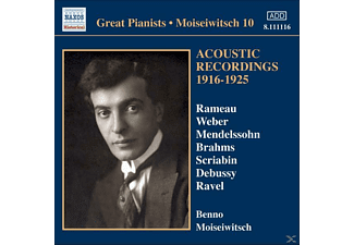 Benno & Various Moiseiwitsch, Benno Moiseivitch - Acoustic Recordings 1916-1925 - (CD)