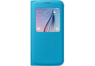 SAMSUNG Galaxy S6 S-View Cover Fabric Kılıf Mavi