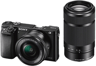 SONY Alpha 6000 Zwart + 16-50mm + 55-210mm (ILCE6000YB)