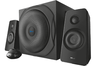 trust pcs 221 2 1 subwoofer speaker set tillbeh r k p p. Black Bedroom Furniture Sets. Home Design Ideas