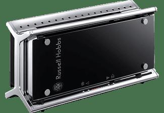 russell hobbs toaster 20370 56 black glass edelstahl. Black Bedroom Furniture Sets. Home Design Ideas