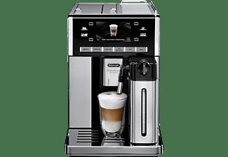 DELONGHI ESAM 6850, Kaffeevollautomat, 1.4 Liter Wassertank, 15 bar, Kegelmahlwerk, Edelstahl/Silber