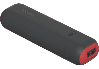 TERRATEC P1, Powerbank, 2600 mAh, Grau/Rot