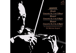 Jascha & Various Heifetz - Concerto No.1 In G Minor, No.4 In D Major, No.5 In A Major - (CD)