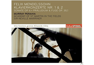 Sir Neville Marriner, Perahia Murray, Academy of St. Martin in the Fields - KULTURSPIEGEL - DIE BESTEN GUTEN-PIANO CTOS 1+2 - (CD)