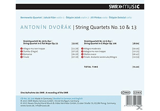 Bennewitz Quartet - String Quartets No. 10 & 13 - (CD)