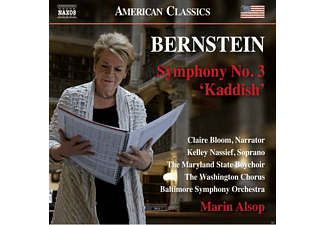 "Kelley Nassief, The Sao Paulo Symphony Choir, The Maryland State Boychoir, The Washington Chorus, Baltimore Symphony Orchestra, Claire Bloom - Symphony No. 3 ""kaddish"" - (CD)"