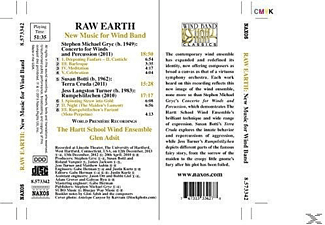 Glen Adsit, The Hartt School Wind Ensemble - Raw Earth: New Music For Wind Band [CD]