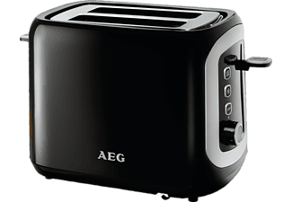 AEG Perfect Morning AT 3300 Automatic Toaster Schwarz/Silber (940 Watt, Schlitze: 2)