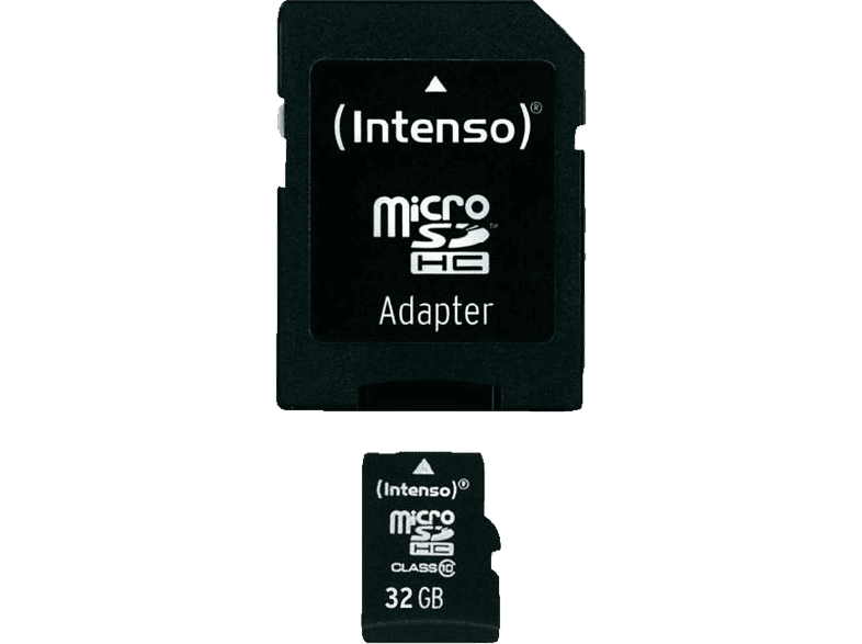 INTENSO Micro SD Card Class 10 32GB μαζί με SD Adapter - (3413480) laptop  tablet  computing  tablet   ipad κάρτες μνήμης hobby   φωτογραφία φωτογρ