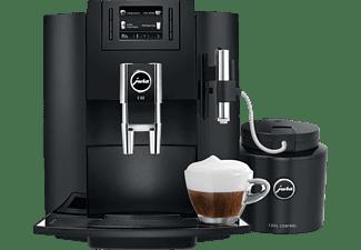 JURA 15083 E80, Kaffeevollautomat, 1.9 Liter Wassertank, 15 bar, AromaG3-Mahlwerk, Piano Black