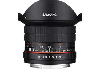 SAMYANG 1112109101 12 mm f/2.8, Fish-Eye, System: MFT, Schwarz