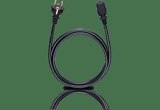 Oehlbach Stroom Aansluitkabel [1x Apparaatstekker, male C14 1x Geaarde stekker] 3 m Zwart