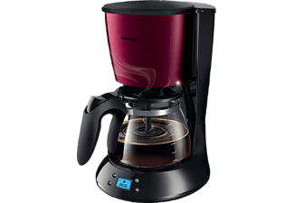 PHILIPS HD7459/31 Daily Metall Collection, Kaffeemaschine, Burgundrot, Metall