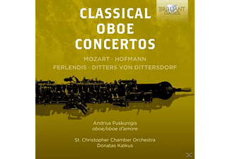 Andrius Puskunigis, St.Christopher Chamber Orchestra - Classical Oboe Concertos [CD]