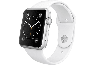 APPLE Watch Sport 42 mm - Silver Aluminium/White