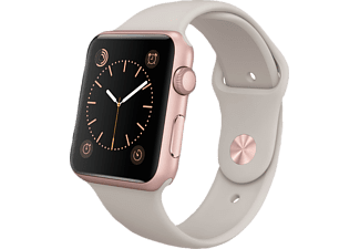 APPLE Watch Sport 42 mm - Rose Gold Aluminium/Stone