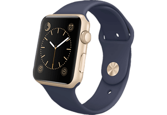 APPLE Watch Sport 42 mm - Gold Aluminium/Midnight Blue