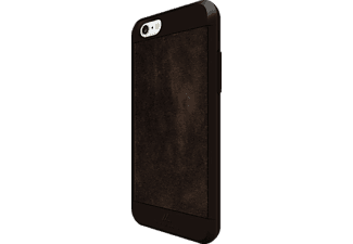 BLACK ROCK Suede, Apple, Backcover, iPhone 6, iPhone 6s, Kunststoff/Echtleder/Polycarbonat (PC)/Thermoplastisches Polyurethan (TPU), Braun