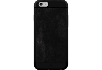 BLACK ROCK Suede, Apple, Backcover, iPhone 6, iPhone 6s, Kunststoff/Echtleder/Polycarbonat (PC)/Thermoplastisches Polyurethan (TPU), Schwarz