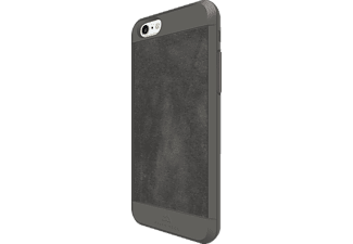 BLACK ROCK Suede, Apple, Backcover, iPhone 6, iPhone 6s, Kunststoff/Echtleder/Polycarbonat (PC)/Thermoplastisches Polyurethan (TPU), Grau