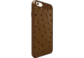 BLACK ROCK Ostrich Backcover Apple iPhone 6, iPhone 6s Kunststoff/Echtleder/Polycarbonat/Thermoplastisches Polyurethan Braun