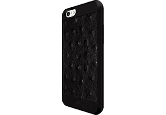 BLACK ROCK Ostrich, Apple, Backcover, iPhone 6, iPhone 6s, Kunststoff/Echtleder/Polycarbonat (PC)/Thermoplastisches Polyurethan (TPU), Schwarz