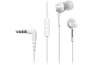 PANASONIC RP-TCM105 E-W, In-ear Headset, Weiß