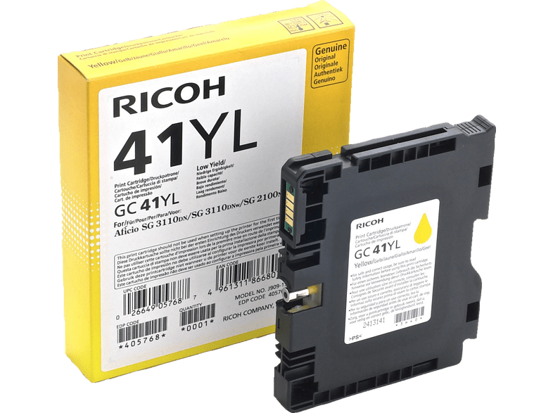 RICOH GC41 YL Yellow - (GLGC41YL-405768) laptop  tablet  computing  εκτύπωση   μελάνια μελάνια  toner