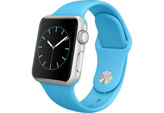 APPLE Watch 38mm zilver aluminium / blauw sportbandje
